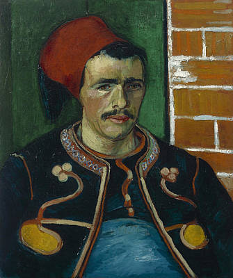 Retro Portret Painting - The Zouave by Vincent Van Gogh