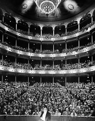 Theater Audience Viewed From Stage Art Print by H. Armstrong Roberts/ClassicStock