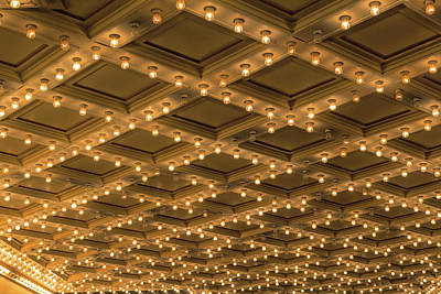 Theater Ceiling Marquee Lights Art Print by David Gn