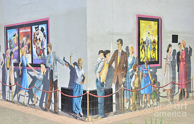 Photograph - Theater Mural by Debby Pueschel