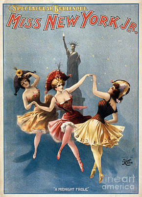 Photograph - Theater Poster: Burlesque by Granger