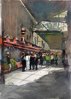 Painting - Theater Restaurants London  by Gaston McKenzie