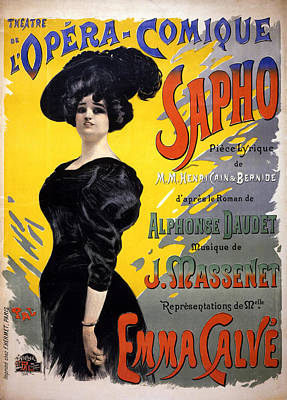 Royalty-Free and Rights-Managed Images - Theatre De LOpera Comique Sapho - Arts Poster - Vintage Advertising Poster by Studio Grafiikka