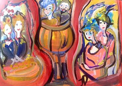 Unity Painting - Theatre Goers Unite  by Judith Desrosiers