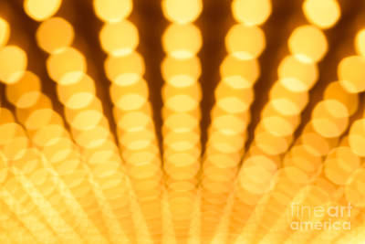 Out Of Focus Photograph - Theatre Lights Defocused by Paul Velgos