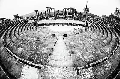 Photograph - Theatre Of Dougga by Mohamed Yahia