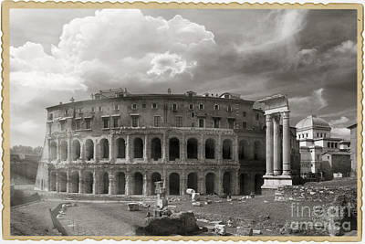 Theatre Of Marcellus Art Print by Stefano Senise