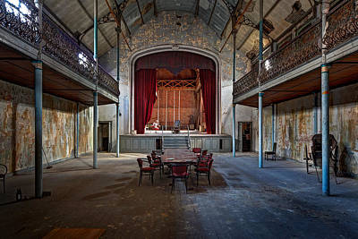 Abandoned Houses Photograph - Theatre Scene - Urban Decay by Dirk Ercken