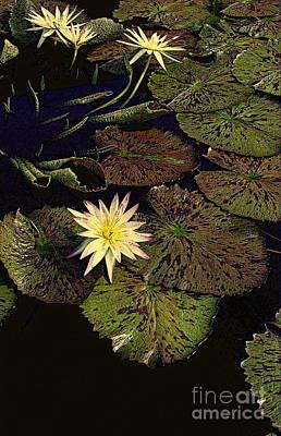 Thebian Water Garden Art Print by Nancy Kane Chapman