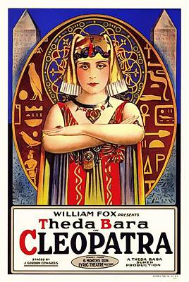 Silent Movie Star Mixed Media - Theda Bara In Cleopatra 1917 by Mountain Dreams