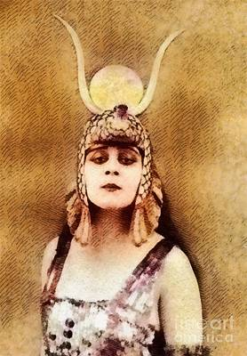 Musicians Royalty-Free and Rights-Managed Images - Theda Bara, Vintage Hollywood Actress by John Springfield
