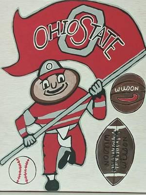 Hockey Coaching Painting - Thee Ohio State Buckeyes by Jonathon Hansen