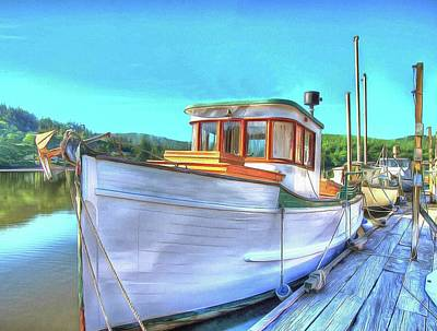Photograph - Thee Old Dragger Boat by Thom Zehrfeld