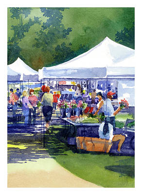 Painting - Theinsville Farmers Market by James Faecke