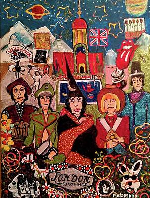 Rollingstone Painting - Their Satanic Majesties Request by Gregory McLaughlin
