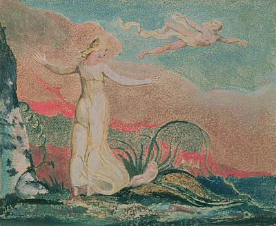 Vale Painting - Thel In The Vale Of Har by William Blake