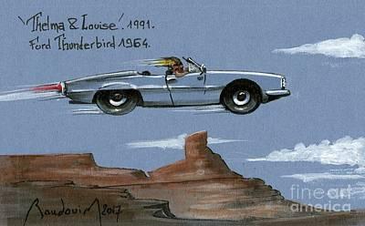 919 Painting - Thelma N Louise Thunderbird #11 by Alain Baudouin