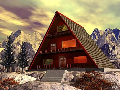 Digital Art - The Lodge by John Pangia