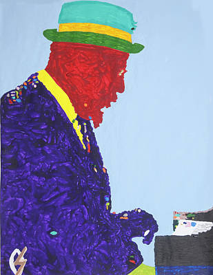 Negro Painting - Thelonious Monk by Stormm Bradshaw