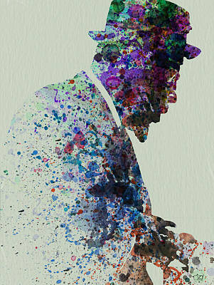 Blues Musician Painting - Thelonious Monk Watercolor 1 by Naxart Studio