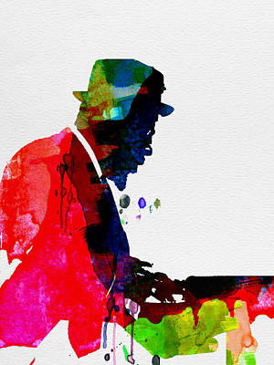 Pianist Painting - Thelonious Watercolor by Naxart Studio