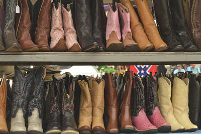 Photograph - Them Boots, Pink And Brown by Nadalyn Larsen