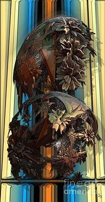 Digital Art - Theme Variation 1-bronze by Ron Bissett