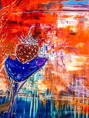 Martini Painting Royalty Free Images - Theme Wild 3 Royalty-Free Image by Paula Baker