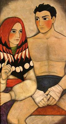 Boxe Painting - Then Marcel The Boxeur Asked His Mother For Advice by Irene Raspollini