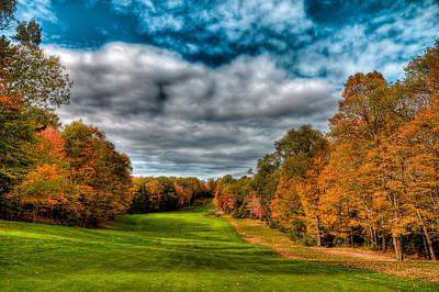 Photograph - Thendara Golf Course Autumn Landscape 1 by David Patterson