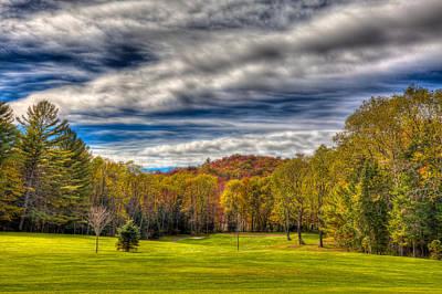 Golf Course Photograph - Thendara Golf Course - Autumn Landscape 2 by David Patterson