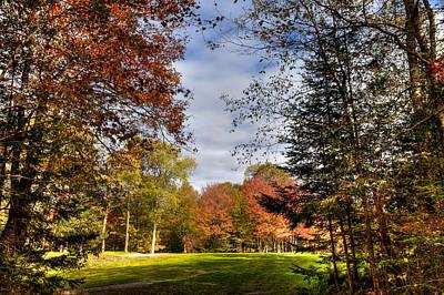 Photograph - Thendara Golf Course - Autumn Landscape 4 by David Patterson