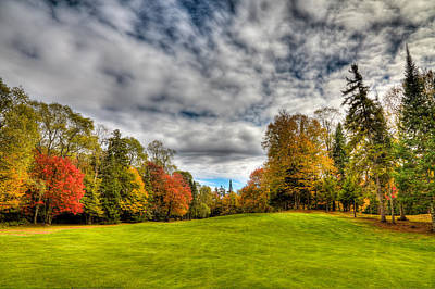 Photograph - Thendara Golf Course - Autumn Landscape 5 by David Patterson