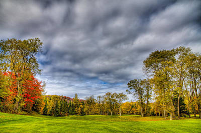 Photograph - Thendara Golf Course - Autumn Landscape 6 by David Patterson