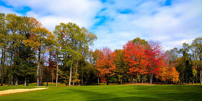 Photograph - Thendara Golf Course - Autumn Landscape 7 by David Patterson