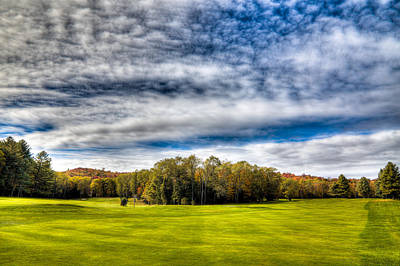 Photograph - Thendara Golf Course - Autumn Landscape 8 by David Patterson