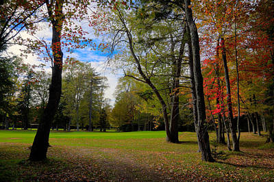 Photograph - Thendara Golf Course Autumn Landscape by David Patterson