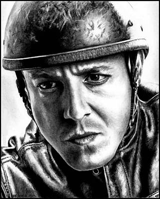 Drawing - Theo Rossi As Juice Ortiz by Rick Fortson