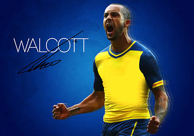Champion Digital Art - Theo Walcott by Semih Yurdabak