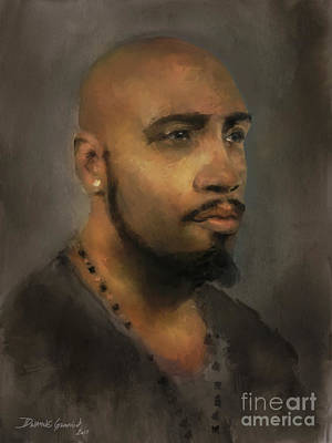 Art Print featuring the digital art T. Wilson by Dwayne Glapion