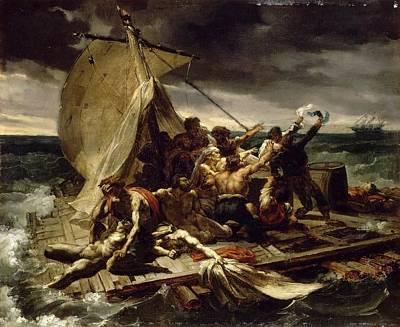 Theodore Gericault  The Raft Of The Medusa Sketch 1818 Art Print