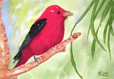 Painting - Theodore Tanager by Rich Stedman