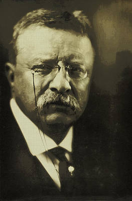 Photograph - Theodore Roosevelt 1915 by Artistic Panda