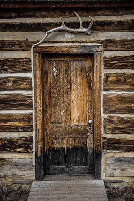 Log Cabin Interiors Photograph - Theodore Roosevelt Cabin Door by Paul Freidlund