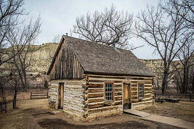 Log Cabin Interiors Photograph - Theodore Roosevelt Cabin Side by Paul Freidlund