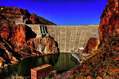 Photograph - Theodore Roosevelt Dam On The Salt River by Roger Passman