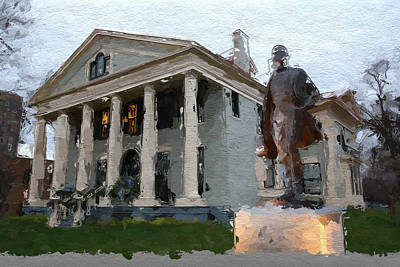 Inaugural Painting - Theodore Roosevelt Inaugural National Historic Site by Iguanna Espinosa