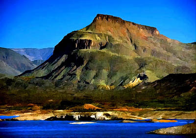 Painting - Theodore Roosevelt Lake Arizona  by Bob and Nadine Johnston