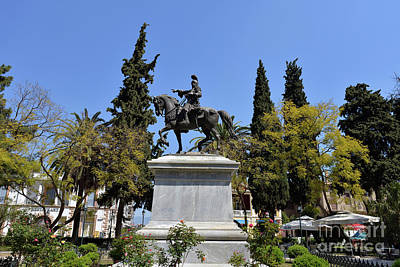 Photograph - Theodoros Kolokotronis Statue In Nafplio Town by George Atsametakis