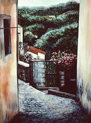 Wall Art - Painting - Theologian's Passage by Gaye Elise Beda